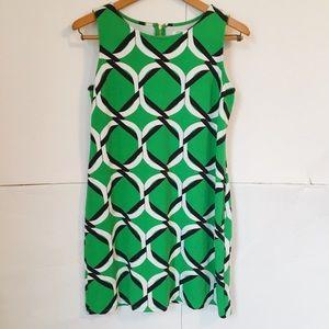 Crown and ivy beach geometric print dress